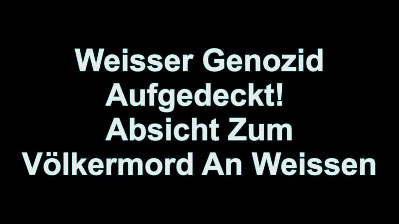 Aufgedeckt Absicht zum Völkermord an Weissen | White Genocide 2016