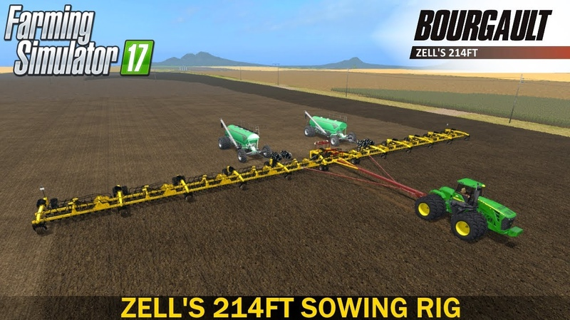 Farming Simulator 2017 LANTMANEN FS ZELL'S 214FT SOWING RIG