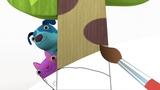 ДЕРЕВЯШКИ - Прятки - Мультик Раскраска с Деревяшками - Учим Цвета по мультикам с малышами