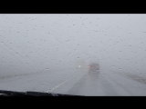 Сильный туман на М5 между Сызранью и Тольятти, 2018.