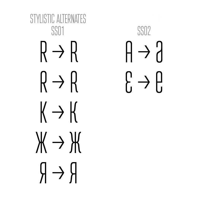 шрифт Attentica 4F v0.2
