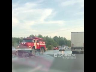 Страшная авария на трассе Ульяновск-Сызрань