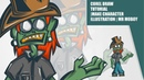 Corel Draw Tutorial Make Character Illustration mr moboy by takevektor