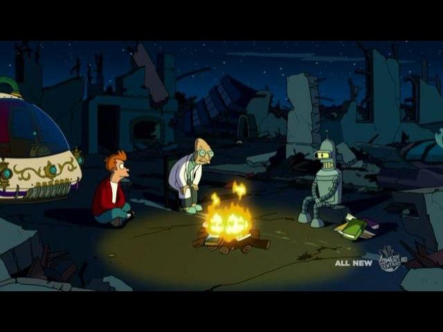 Futurama in the year 105105 time machine song