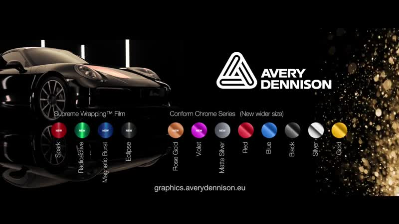 Avery Dennison Supreme Wrapping Film and Conform Chrome Series 7 new colours