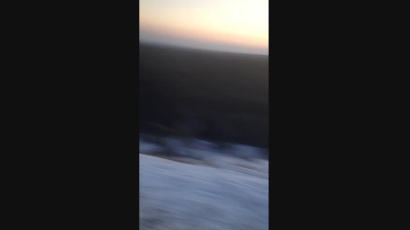На горе зима декабрь 2018