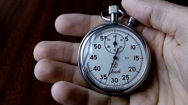 Обзор советского секундомера Агат. Review of the Soviet stopwatch Agate.
