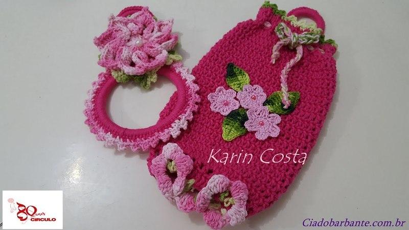 Puxa Saco Amor Perfeito / Porta Sacolas / Crochet / Diy