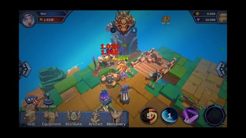 Endless World Gameplay Beta F2P 3D ARPG Idle game