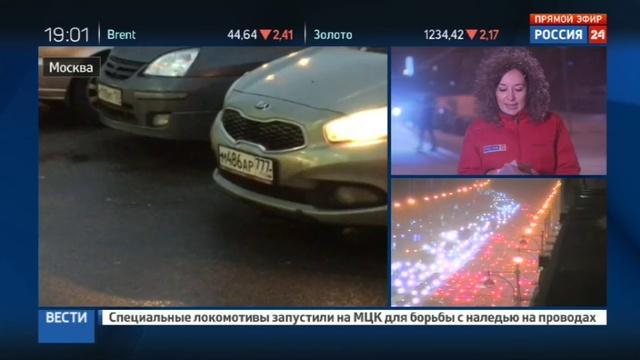 Новости на Россия 24 • Ледяной дождь в Москве остановил не только машины, но и поезда с самолетами
