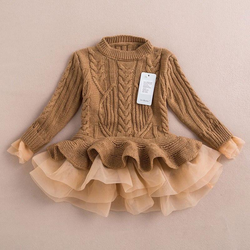 Теплое платье из плотной ткани