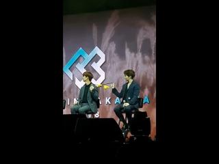 FANCAM : BTOB @ Concert in Jakarta (Фокус на Чансоба и Сончжэ)
