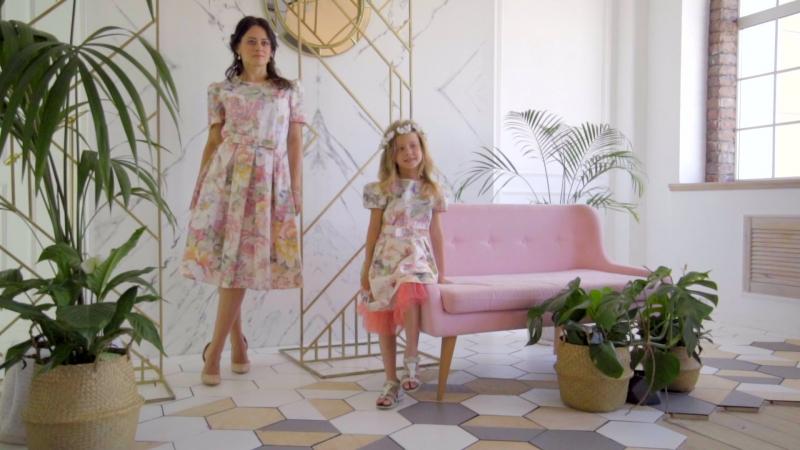 Платья Акварель family look от Счастливы вместе