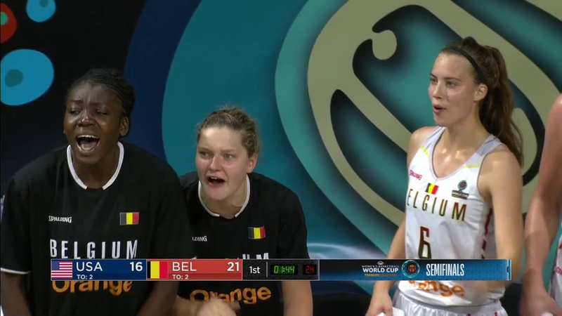 USA vs Belgium FIBA Women's World Championship 2018