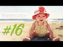 Portrait of a baby girl watercolor painting step by step 16