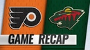 Van Riemsdyk scores twice as Flyers stave off Wild