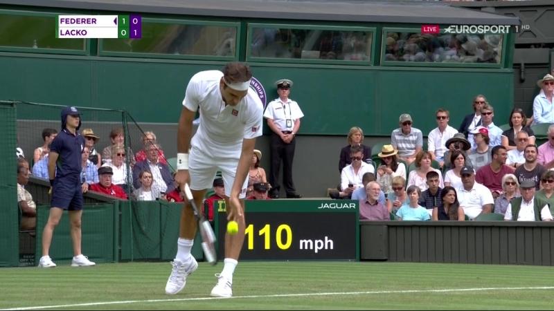 Wimbledon 18 2-й круг Роджер Федерер (Швейцария, 1) — Лукаш Лацко (Словакия)
