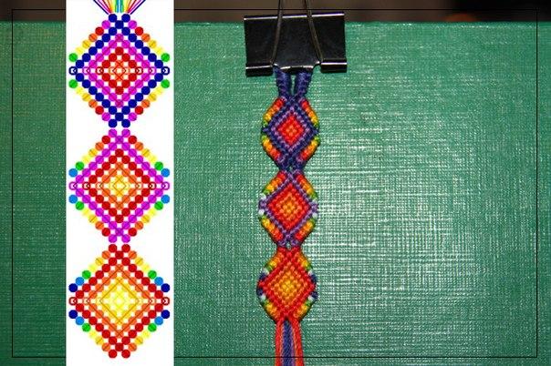 Как начать фенечку конфеткой косым плетением