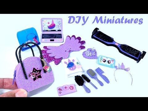 DIY My Little Pony Miniatures - Zippered Purse, Beauty Products, Easy Hoverboard, More