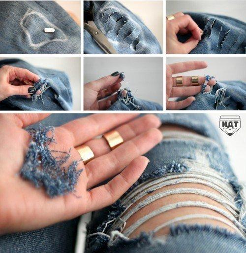 Как красиво порвать джинсы. (1 фото) - картинка