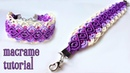 Macrame bracelet tutorial: The purple sunset