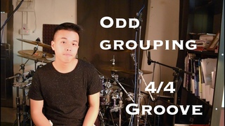 Odd grouping 4/4 groove drum lesson - Wilfred Ho