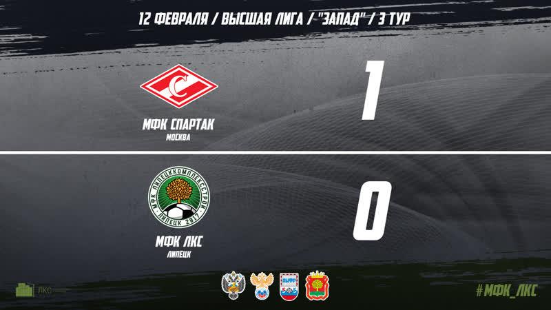 Обзор матча Спартак  ЛКС 1 0