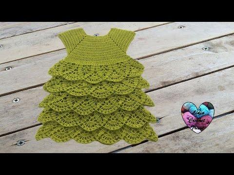 Robe Merveille crochet toutes tailles 1/2 / Magnificent ruffle dress all sizes (english subtitles)