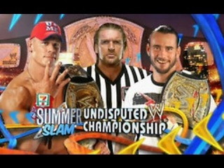 WWE SummerSlam 2011 - CM Punk Vs John Cena (Undisputed WWE Championship) Full Match HD