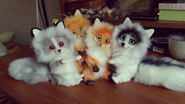 Авторские куклы — лисята (10 фото) - картинка