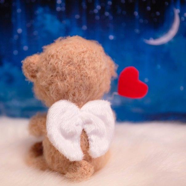 Милый мишка, любовный ангел-хранитель