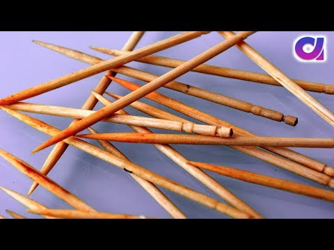 How to reuse toothpicks to make awesome crafts| Toothpicks crafts |Artkala 340