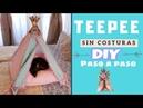 Como hacer cama de Perros o Gatos SIN COSTURAS Paso a o paso DIY TEEPEE TIPI
