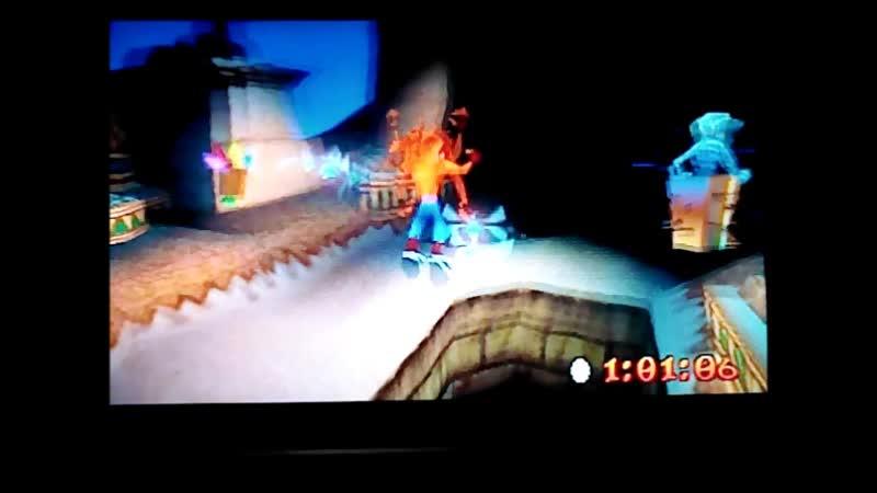 Crash Bandicoot 3 Warped NTSC J Time Trial Bug Lite 1 07 90 PB И избиение времени разработчиков
