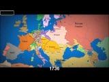 Карта Европы с 1000 года по настоящее с временной шкалой