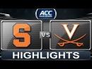Syracuse vs Virginia | 2014 ACC Basketball Highlights