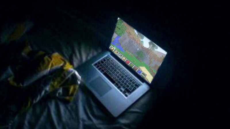 Your family is asleep and you're playing minecraft on a cool 2012 summer night