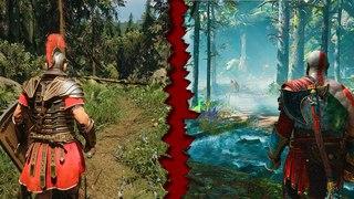 God of War VS Ryse | PS4 Pro vs PC Ultra | Details Comparison