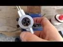 нарезание резьбы для крепления лепестков розы