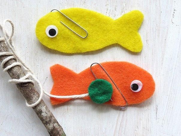 поделки с детьми рыбалка