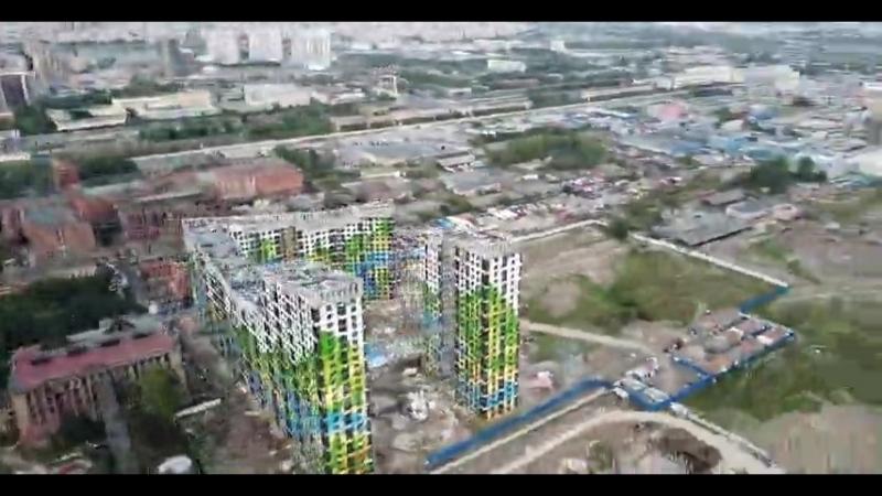 Облет строительной площадки ЖК Светлый мир Жизнь...
