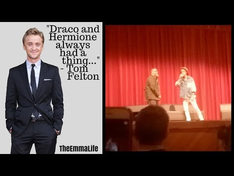 TOM FELTON CONFIRMS HE SHIPS DRAMIONE THOUGHTS ON DRAPPLE!