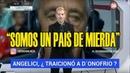 LIBERMAN RECALIENTE: SOMOS UN PAIS DE MIERDA, QUE PACTO NI QUE NADA SE TRAICIONARON AMBOS
