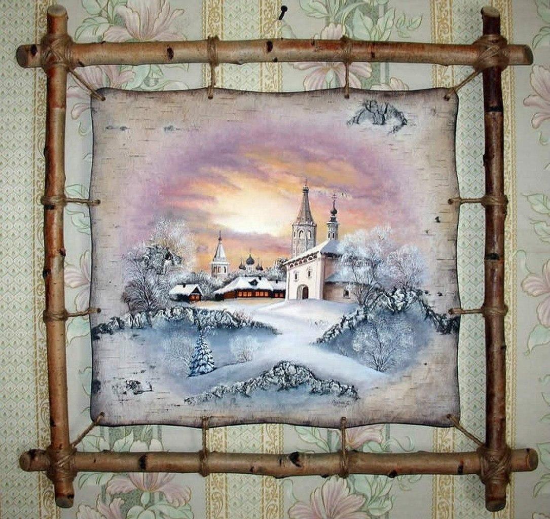 Картины на бересте