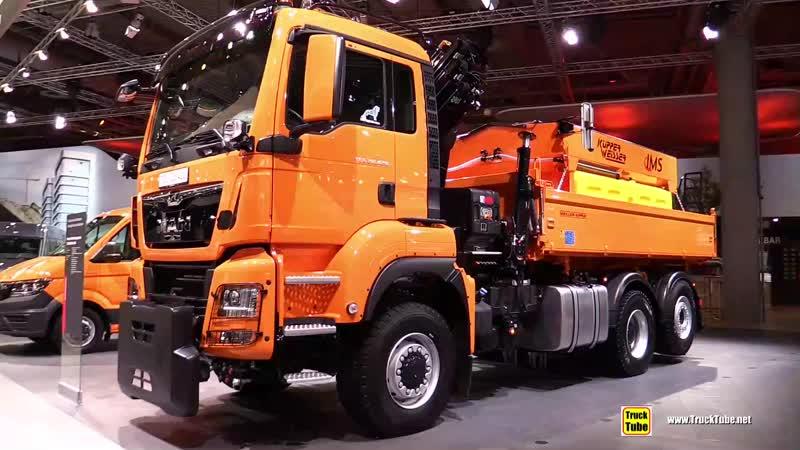 2019 MAN TGS 28.420 Salt Truck - Exterior and Interior Walkaround - 2019 IAA Hannover