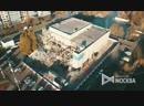 Вид с квадрокоптера на ход работ по демонтажу здания кинотеатра «Экран»