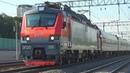По 4 неправильному пути! Электровоз ЭП20-018 с фирменным поездом №30 Москва - Новороссийск