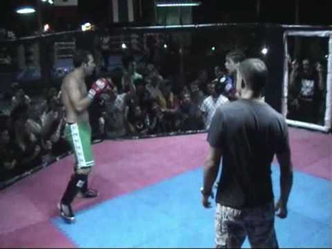 BBQ Beatdown 6 - Claire Haights beats male opponent - MMA in Thailand