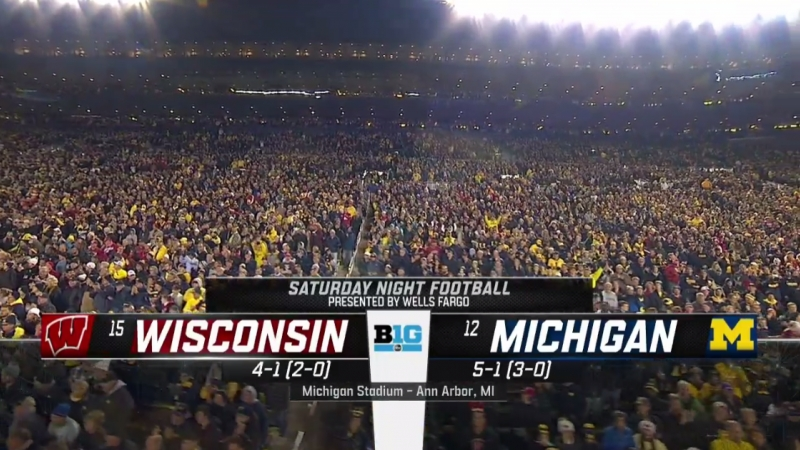 NCAAF 2018 Week 07 15 Wisconsin Badgers 12 Michigan Wolverines 1Н EN