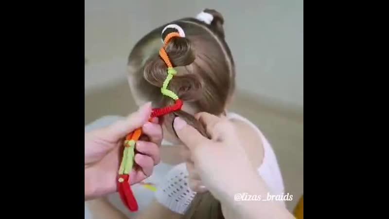 Прическа для девочки!